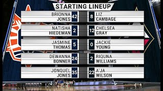 FULL WNBA BASKETBALL GAME: Connecticut Sun at Las Vegas Aces, May 23, 2021. #AjaWilson #LizCambage
