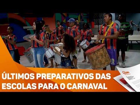 Últimos preparativos das escolas para o Carnaval - TV SOROCABA/SBT