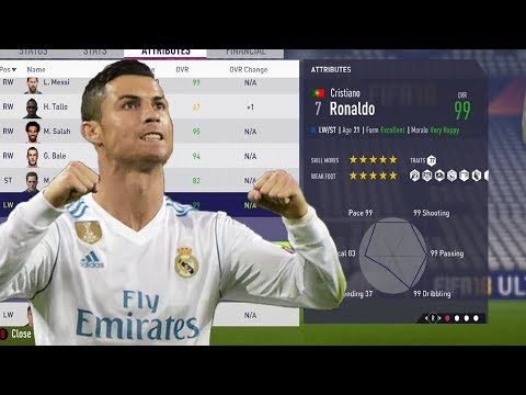 FIFA 18 EDIT PLAYERS TRAITS, POTENTIAL, AGE,.... WITH CHEAT ENGINE CAREER MODE