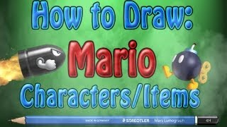 How To Draw Mario Characters/Items