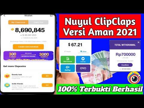 Trik Cara Nuyul Koin Terbaru 2021 Apk CLIPCLAPS Penghasil Uang, Saldo Dana Tercepat