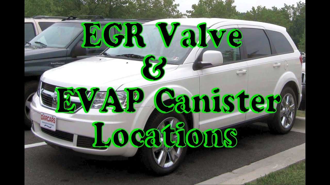 Dodge Journey How to find EGR valve and EVAP canister location – Dodge Caravan Engine Diagram Egr