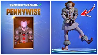NEW EXCLUSIVE PENNYWISE SKIN LEAKED | FORTNITE X IT CHAPTER 2 COLLABORATION (PENNYWISE EVENT)