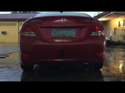 1.4 Hyundai Accent exhaust system
