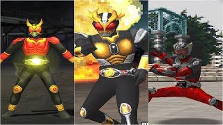 (PS1) Kamen Rider Kuuga, Agito, Ryuki - All Finisher