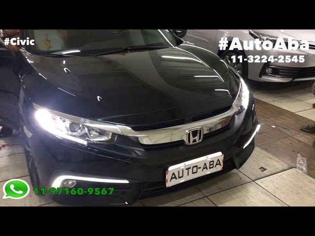 HONDA CIVIC Geração 10 Moldura DRL Daylight Lâmpadas Super Leds e muitos outros acessórios - AutoAB