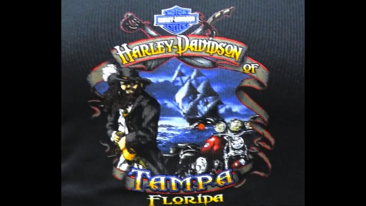 harley davidson t shirts for sale in tampa florida near me youtube. Black Bedroom Furniture Sets. Home Design Ideas