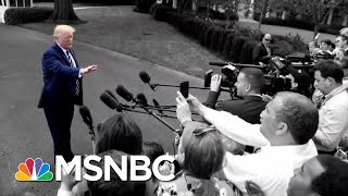 Trump Yesterday: Unhappy With Racist Chant. Trump Now: They're Patriots. | The 11th Hour | MSNBC