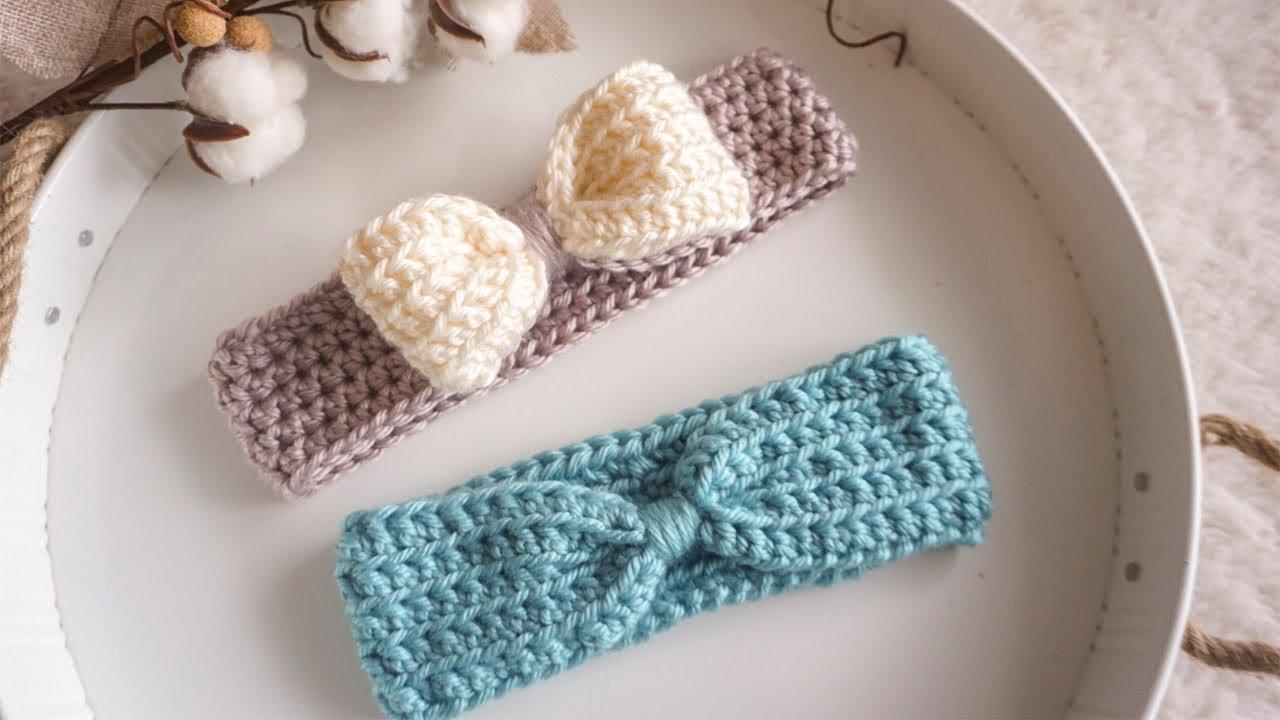 Diadema Para Bebé A Crochet