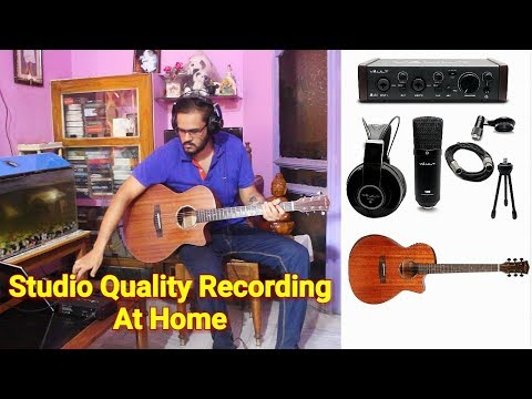 Record Studio Quality Guitar At Home Easily - My Personal Recording Setup | Vault Ai22 Interface