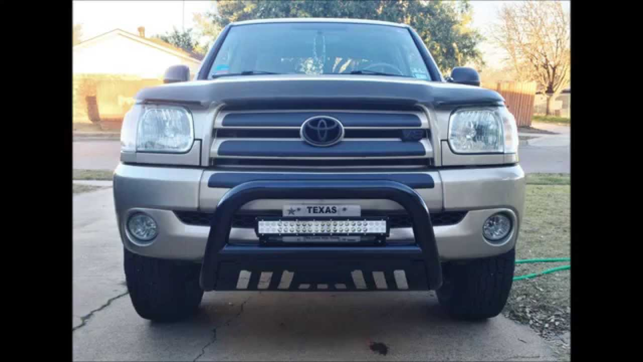 20 inch led light bar on 2006 tundra youtube 20 inch led light bar on 2006 tundra aloadofball Image collections