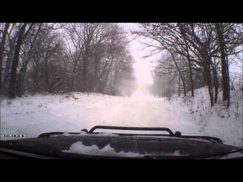 2-21-13 snow. Driving around in Springfield Illinois after our snow storm/ During.