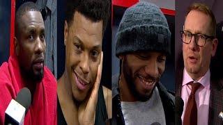 RAPTORS VS WIZARDS POST GAME NBA   KAWHI LEONARD KYLE LOWRY IBAKA & NURSE   NBA SOUND   01.13.2019