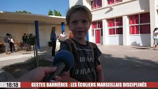 Gestes barrières : les écoliers marseillais disciplinés