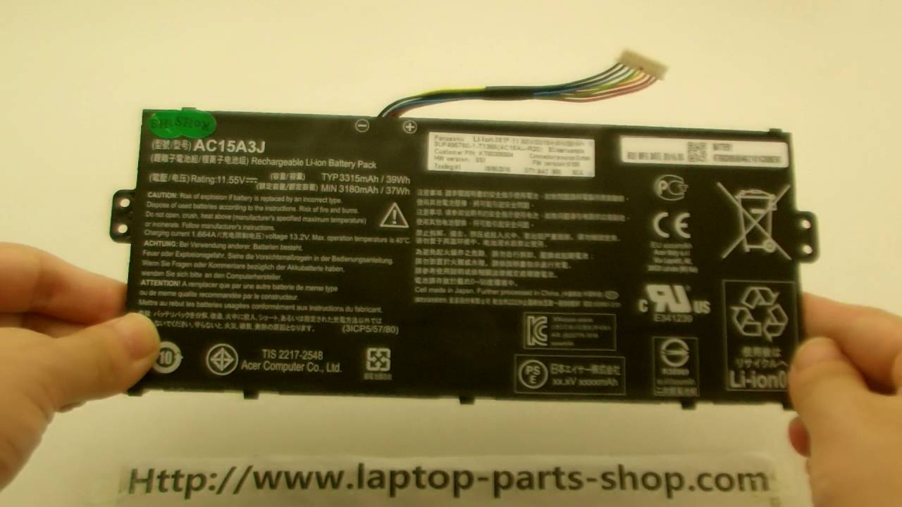 ACER AC15A3J Original Computer batteries.Laptop Battery - YouTube