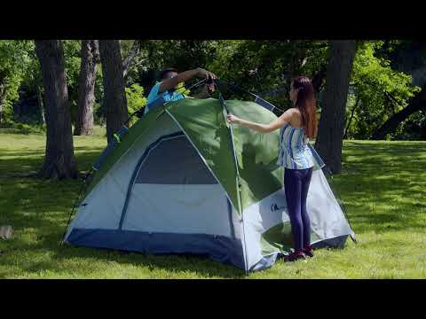 Moon Lence Pop up 4 Person Camping Tent