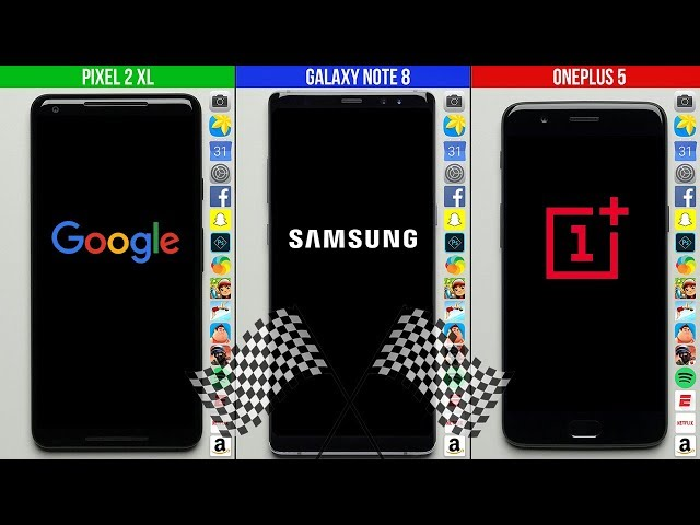 Pixel 2 XL vs. Galaxy Note 8 vs. OnePlus 5 Speed Test