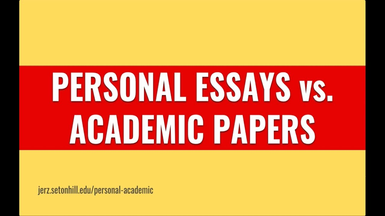 Essay Types Examples  Graduation Essay Examples also Essay On 1984 By George Orwell Personal Essays Vs Research Papers  Writing Tips For Critical Thinking   Of  College Essay Help Online