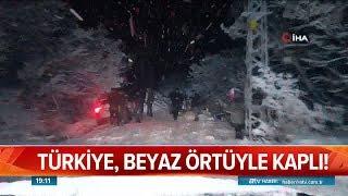 Türkiye, beyaz örtüyle kaplı - Atv Haber 7 Ocak 2019