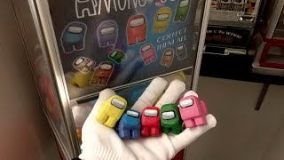 AMONG US CAPSULE MACHINE TOYS ASMR + FREE ROBLOX CARD CODE