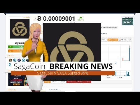 Cryptocurrency SagaCoin $SAGA Rose 99% During the Past Day