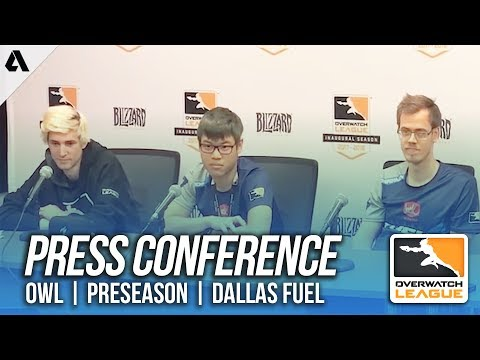 Overwatch | Dallas Fuel Press Conference - Overwatch League Preseason | Akshon Esports