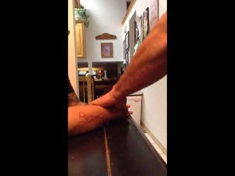 Popping my ganglion cyst! OUCH...