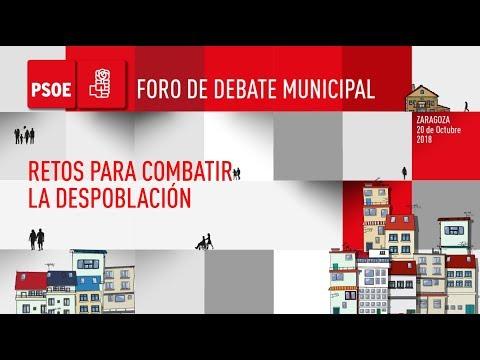 Foro Municipal PSOE - Retos para combatir la despoblación