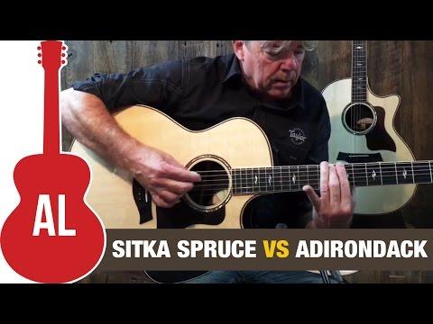 Sitka Spruce vs Adirondack (Taylor 814ce Comparison)