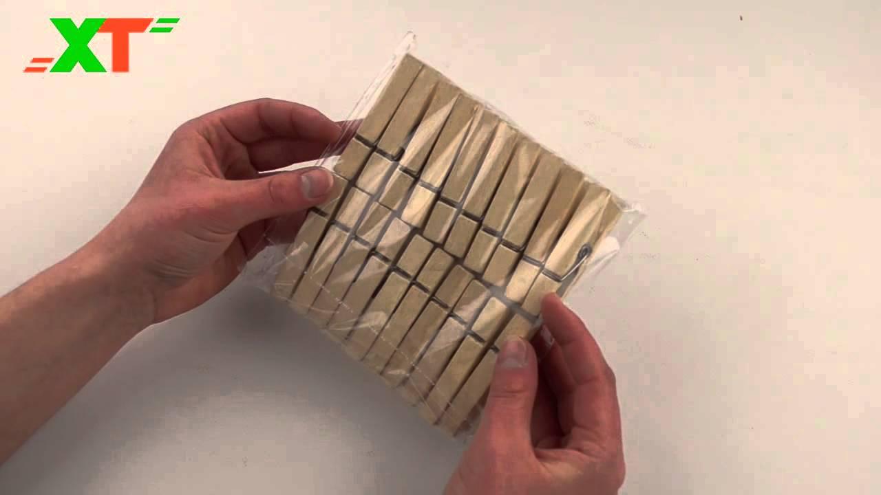 Прищепки деревянные (20шт.) - YouTube