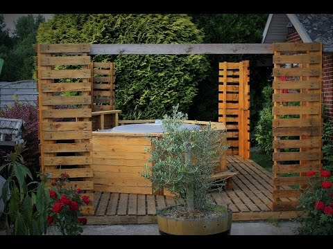 Mes constructions en palette de bois youtube for Palette deco terrasse