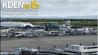 [P3DV4.5] American Airlines | Boeing 737-800 | Bouncy Landing at Denver International KDEN