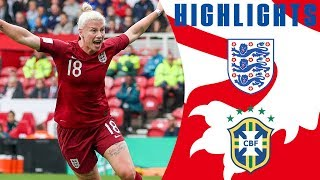 England 1-2 Brazil | Brilliant England header not enough against clinical Brazil  | Lionesses
