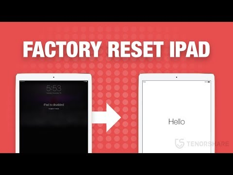 How to reset an ipad without passcode or itunes