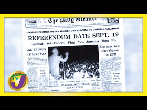 Jamaica's History | Norman Manley Announce Referendum Date | Jamaica Labour Party Logo