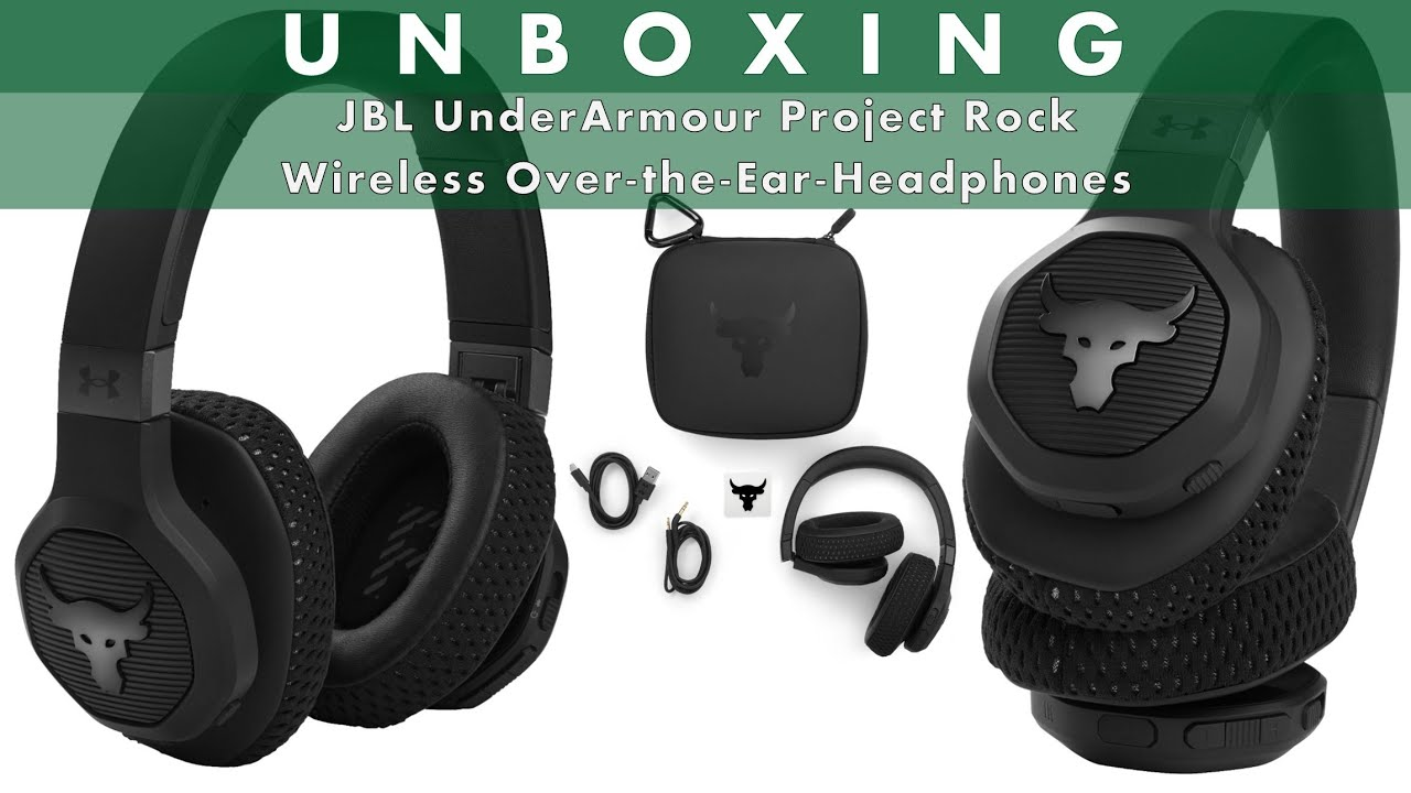 Download JBL - UnderArmour Project Rock Wireless Over-the-Ear Headphones - Black - UnBoxing