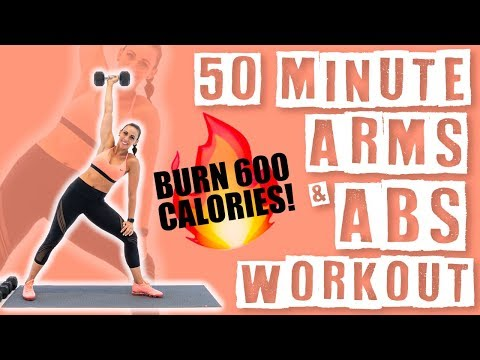 50 Minute Arms and Abs Workout ��Burn 600 Calories!��