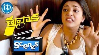 Thuppakki Movie Scenes - Kajal Aggarwal Asking Vijay For A kiss || Murugadoss