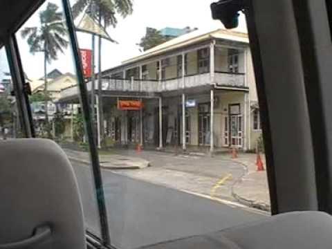 SUVA FIJI -COOL BUS RIDE THROUGH THE CITY 2014
