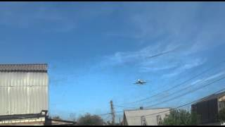 Низколетящий самолет над Зеленодольском.