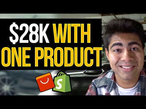 How I Made $28,000 Dropshipping ONE Product With Shopify thumbnail
