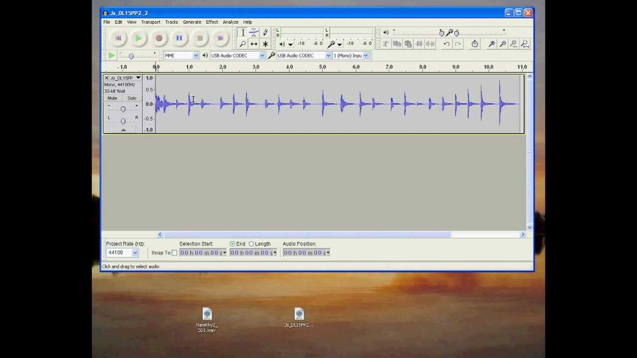 Using Audacity to Convert Files from Stereo to Mono