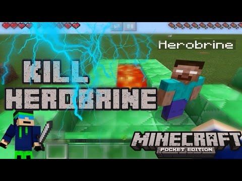 Ways To Kill Herobrine In Minecraft Pocket Edition
