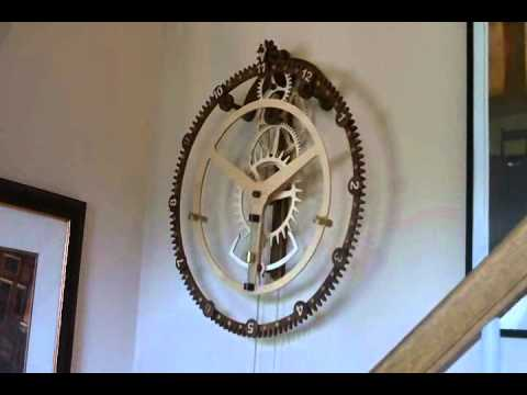 Wood Gear Clock 9 By Steve K Youtube