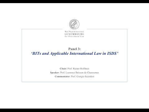 TTIP – Panel 3 - BITs and Applicable International Law in ISDS