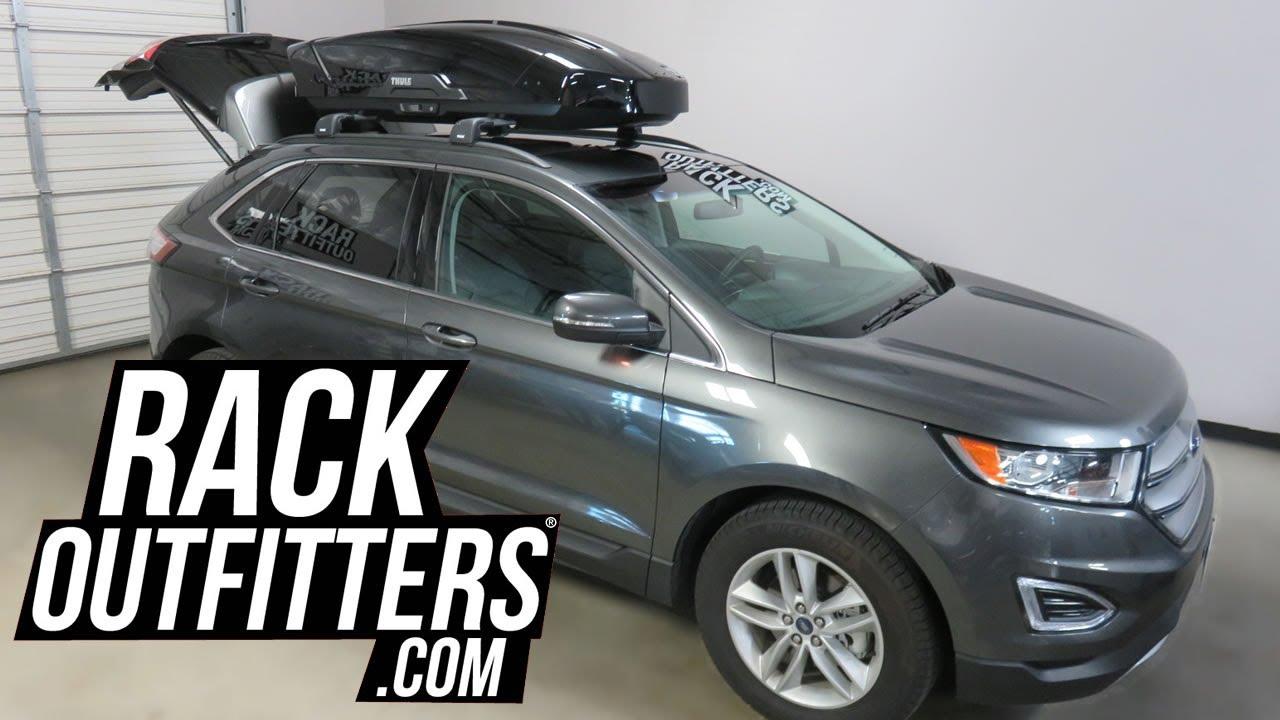 Ford Edge With Thule Motion Xt Cf Roof Top Cargo Box Rack Outfitters