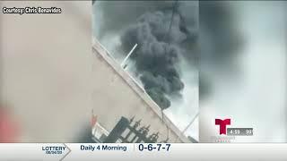 Miguel Amante - Residentes de un área de Laredo se quejan de humo negro que emana de un crematorio
