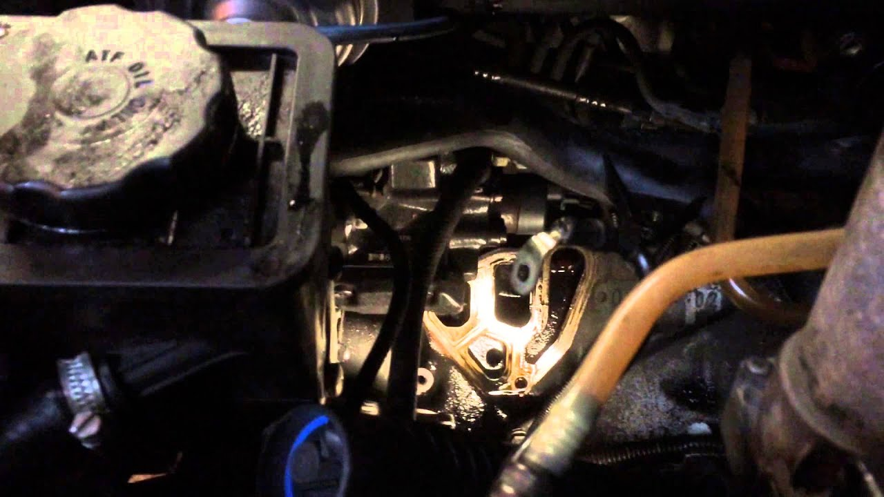 bmw    oil cooler gasket removal youtube