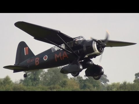 Westland Lysander at Old Warden 7th October 2012