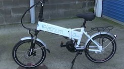PLATINUM FOLDING ELECTRIC BIKE MID DRIVE LOADED WITH FEATURES